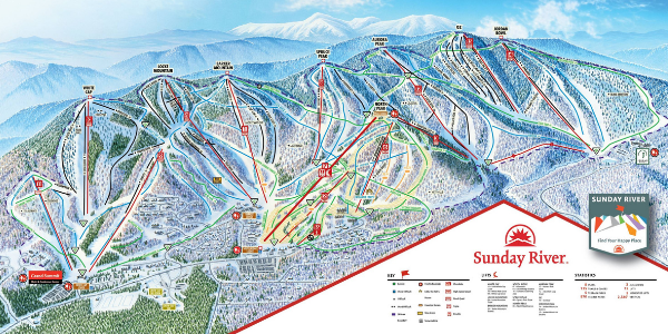 Sunday River Maine Trail Map